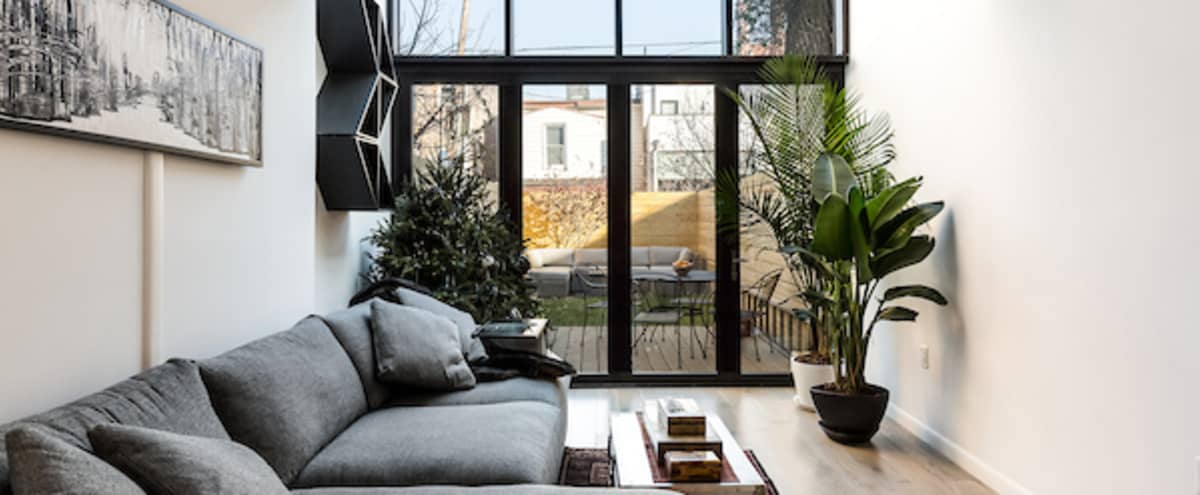 Modern Brooklyn Townhouse Garden Apartment in New York Hero Image in Park Slope, New York, NY