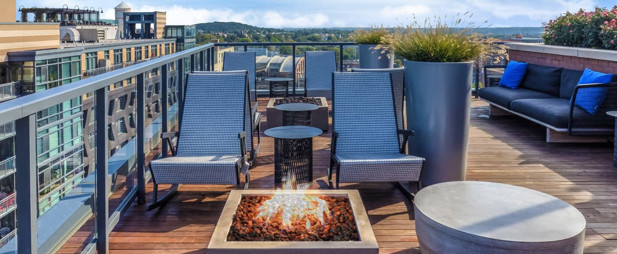 Indoor/Outdoor Rooftop Lounge Space with Breathtaking Views of Washington D.C. in Washington Hero Image in NoMa, Washington, DC