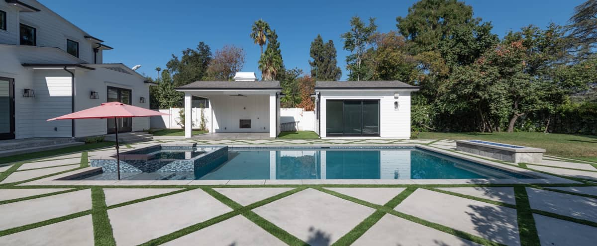 New Cape cod private estate with stunning backyard in Encino Hero Image in Encino, Encino, CA