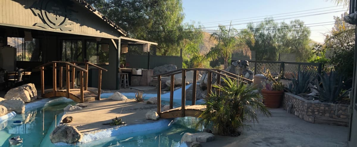 Country Oasis Pool / Pond, BBQ, patios, sitting and lounging area. in Agua Dulce Hero Image in undefined, Agua Dulce, CA