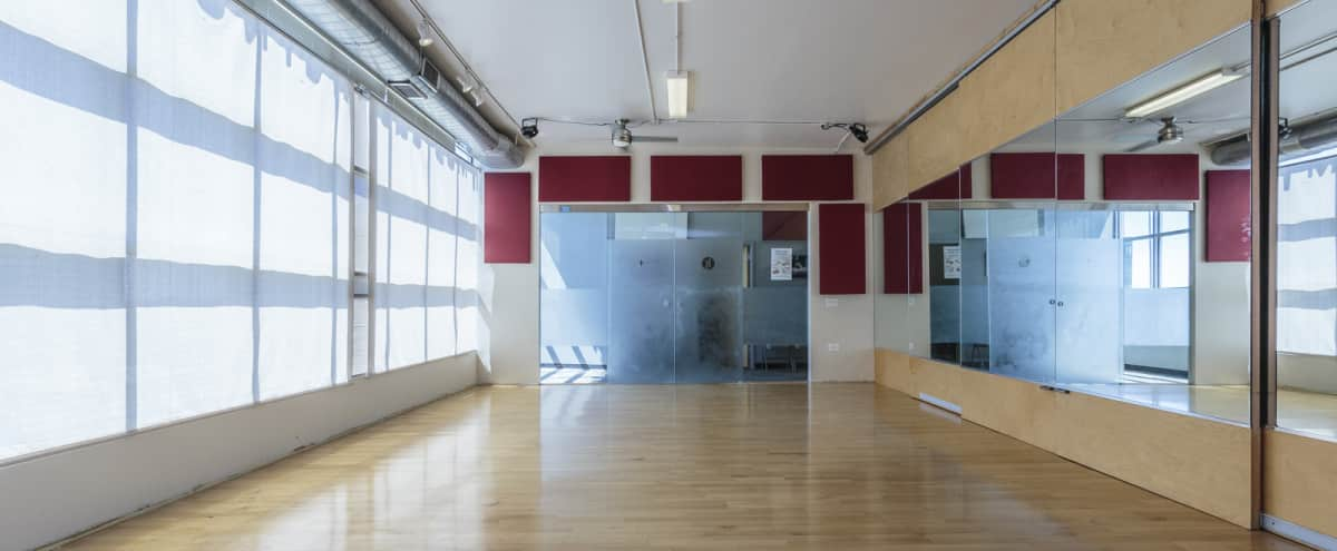 Great Natural Light Dance Studio | South Loop | Studio 4 in Chicago Hero Image in South Loop, Chicago, IL