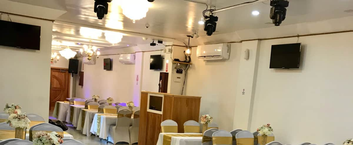 Elegant Party hall for all occasions, Newly renovated..modern lighting and sound system in Ozone Park Hero Image in Ozone Park, Ozone Park, NY