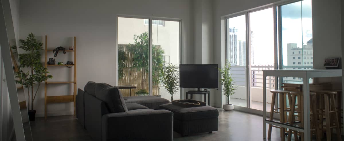 Industrial Loft Enclave with Wraparound Terrace and City/Bay Views in Miami Hero Image in Downtown Miami, Miami, FL
