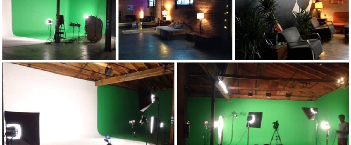 Downtown Pre-Lit Studio with multiple sets, White/Green Screen, Brick wall in Los Angeles Hero Image in Downtown, Los Angeles, CA