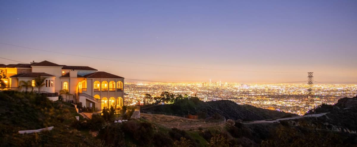 Exquisite, Hollywood Hills Jetliner View Mansion in Los Angeles Hero Image in Central LA, Los Angeles, CA