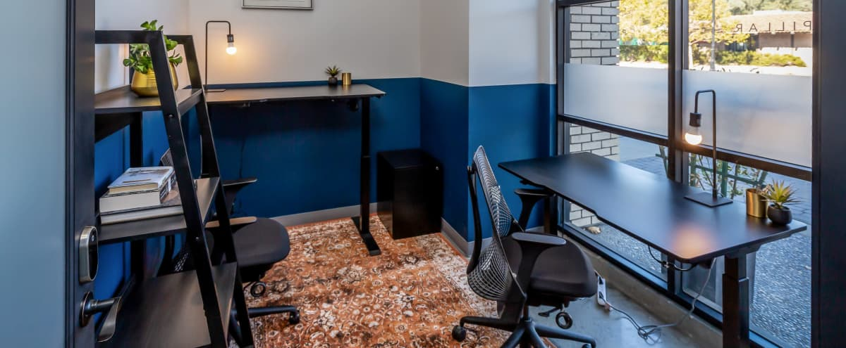 Modern Private Office Meeting Room w/ Large Window in Lafayette Hero Image in Moraga Blvd, Lafayette, CA