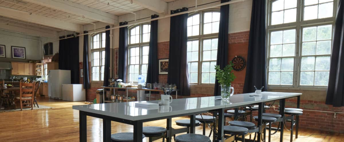Sunlit Creative Loft Space in Old New England Mill in Framingham Hero Image in Saxonville Mills Building 3, Framingham, MA