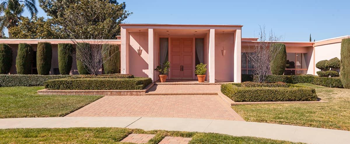 Pink Hollywood Regency Mid Century Vintage House with Pool in northridge Hero Image in Northridge, northridge, CA