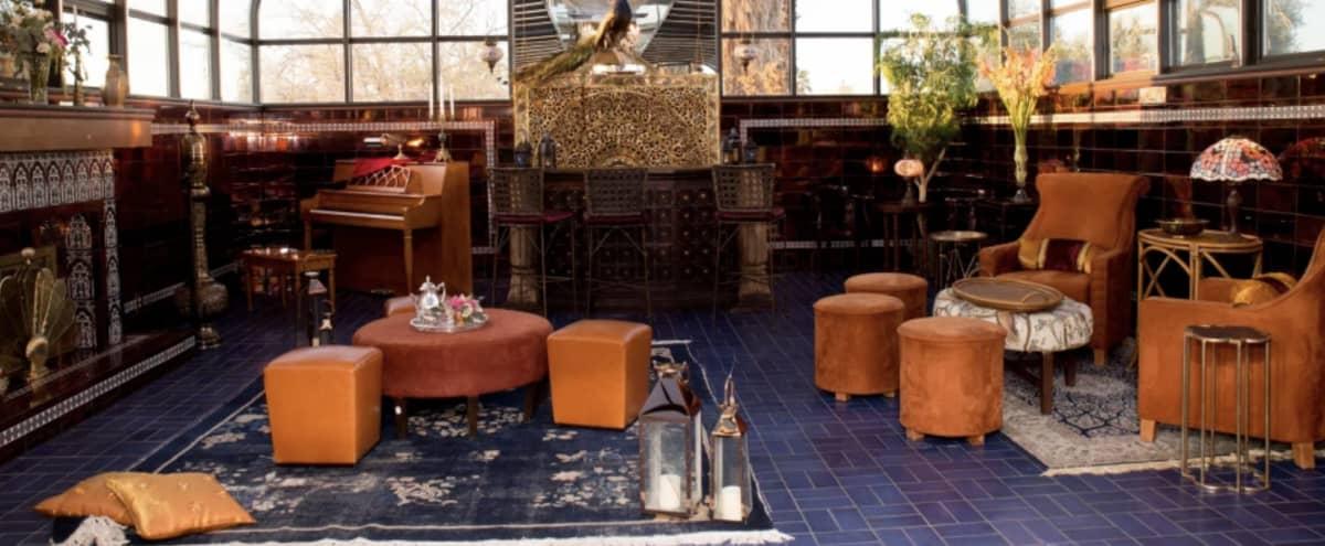Intimate Moroccan Atrium Atop Legendary Mansion in Las Vegas Hero Image in undefined, Las Vegas, NV