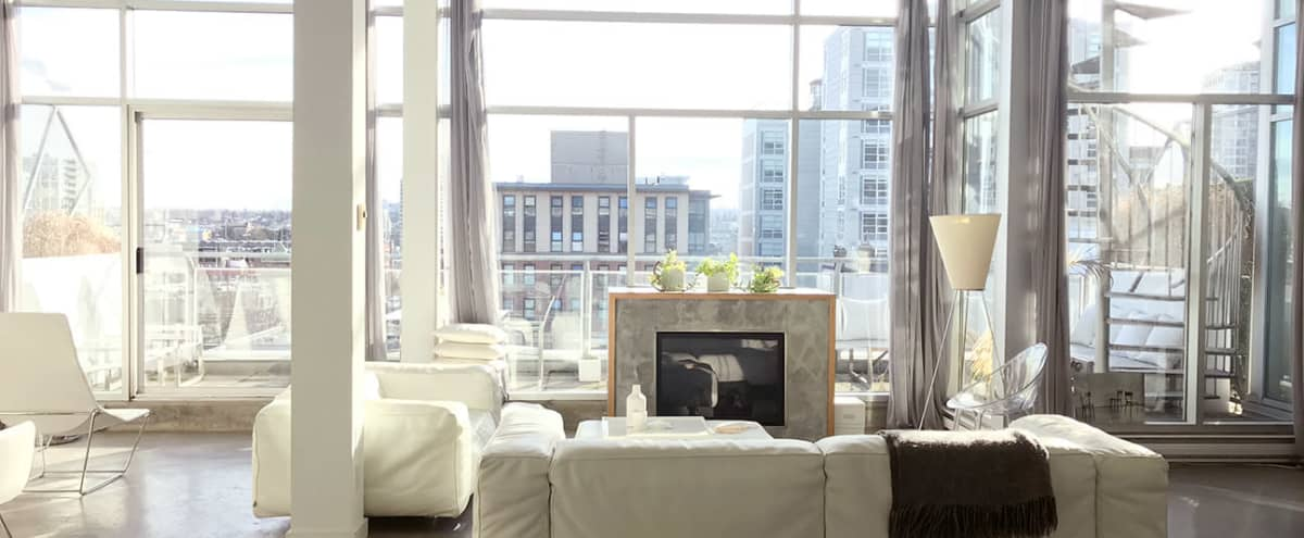 Vancouver White Loft with Elegant yet Raw Style in Vancouver Hero Image in Downtown Eastside, Vancouver, BC
