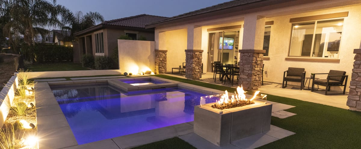 Professionally designed home with gorgeous pool and beautiful skyline views in indio Hero Image in undefined, indio, CA