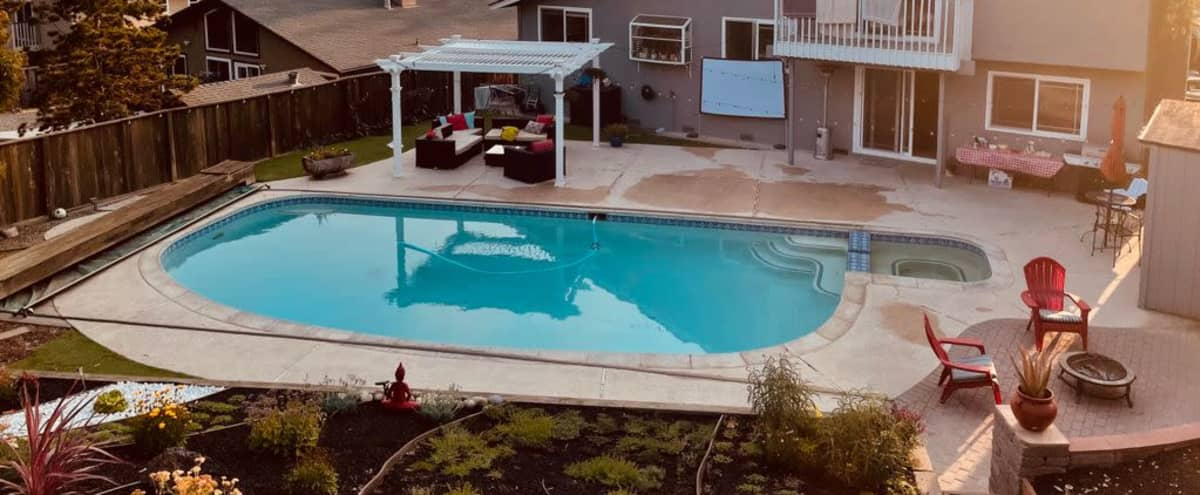 Beautiful Backyard with a Pool and a Panoramic View in Castro Valley Hero Image in undefined, Castro Valley, CA