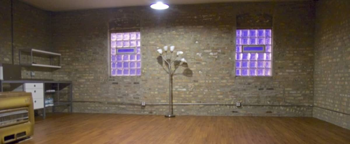 Brick & Glass Meeting Space / Conference Room with Kitchenette and Bath in Chicago Hero Image in Near West Side, Chicago, IL