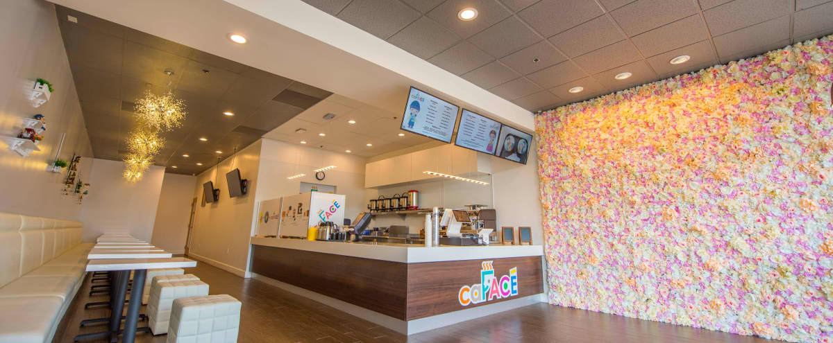 A Korea Design Cafe and Milk Tea Store Space with floral wall and fashion design in Newark Hero Image in undefined, Newark, CA