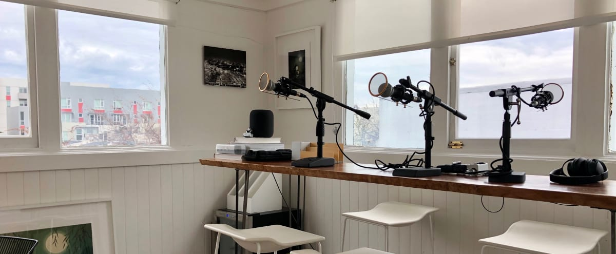 Rooftop Podcast Studio with 360° city views in San Francisco Hero Image in SoMa, San Francisco, CA