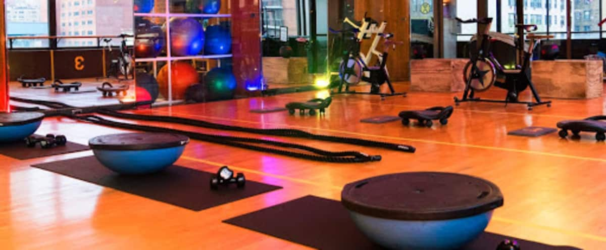 Beautiful Fitness studio located in midtown east. Natural lighting with a nice view! in New York Hero Image in Midtown, New York, NY