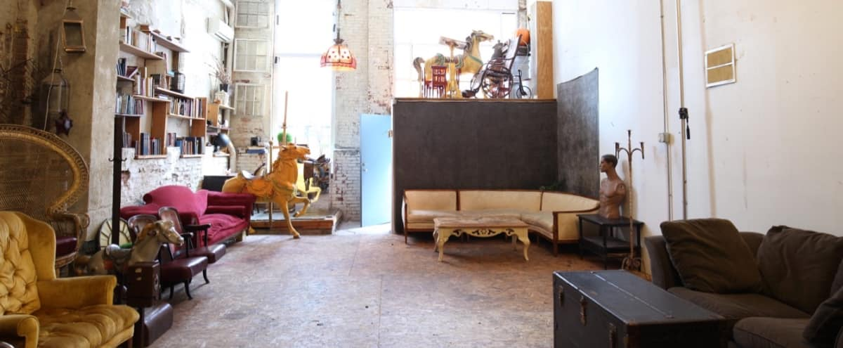 1200 SF Film and Photo Studio in DUMBO. FREE Vintage Furniture and Props included with rental! in Brooklyn Hero Image in Dumbo, Brooklyn, NY