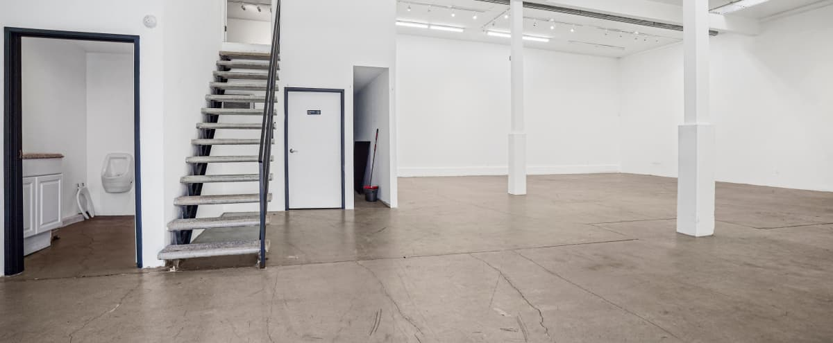 Creative Studio Gallery Space with Mezzanine Office in Los Angeles Hero Image in Central LA, Los Angeles, CA