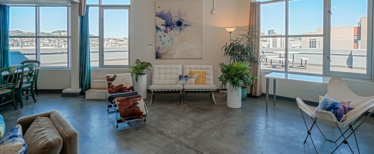 Artist's Modern Sky Loft, Airy + City Views in San Francisco Hero Image in Mission District, San Francisco, CA