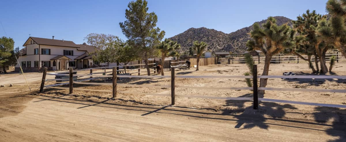 Rustic Hacienda Horse Ranch Surrounded by Wild West Theme , Pioneertown, Calif. in Pioneertown Hero Image in undefined, Pioneertown, CA