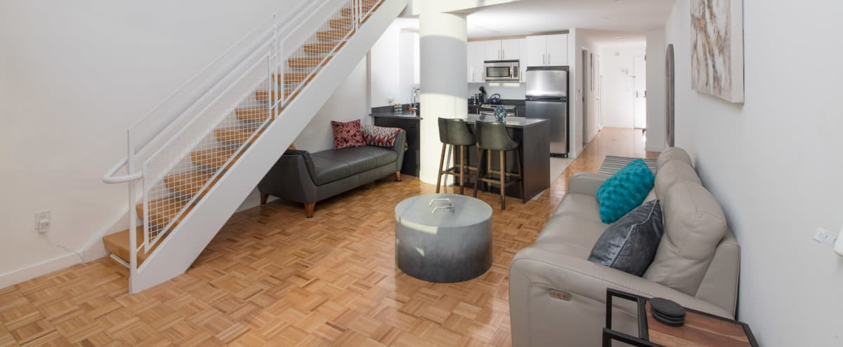 ★★★★★Amazing 2FL Loft 4 Mins From NYC Video/Photo Shoots Statue Of Liberty View in Jersey City Hero Image in The Waterfront, Jersey City, NJ