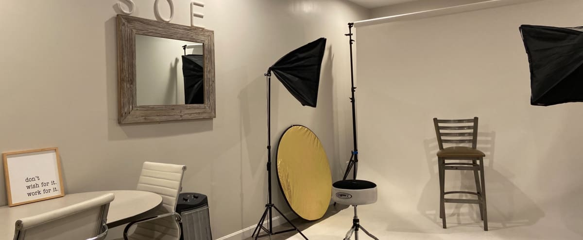 Photography Space with Lights & White Backdrop in Weymouth Hero Image in undefined, Weymouth, MA