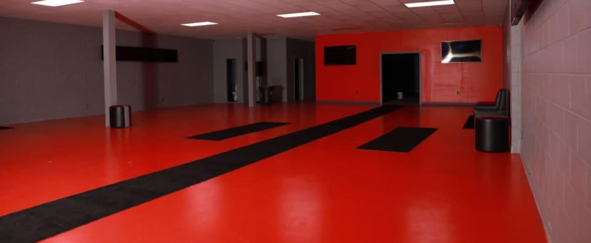 Versatile Venue Space with Red Floors in Atlanta Hero Image in undefined, Atlanta, GA