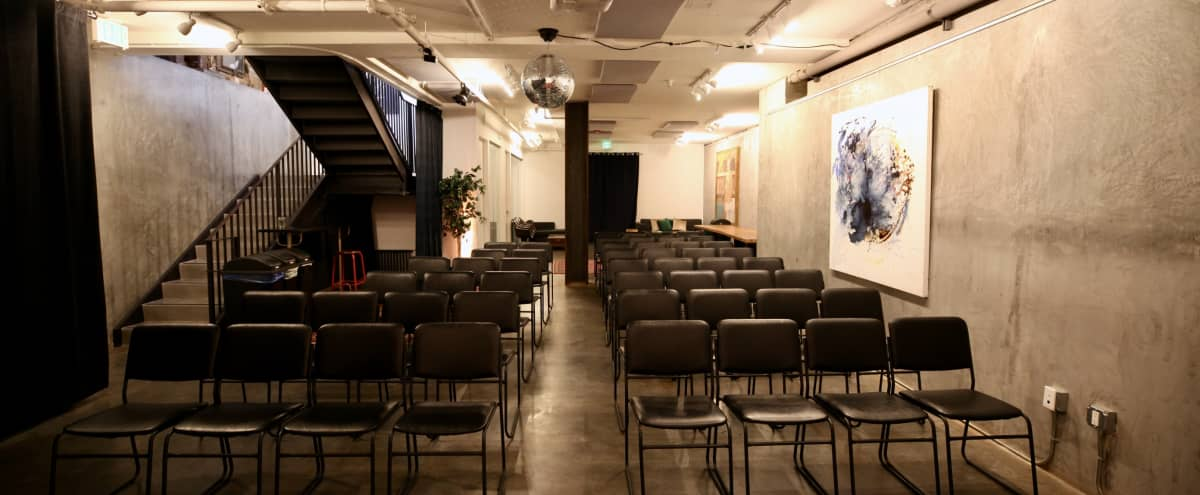 Multipurpose Industrial Style Meeting Space - Theater Gallery (Lower Level) in San Francisco Hero Image in Mission District, San Francisco, CA