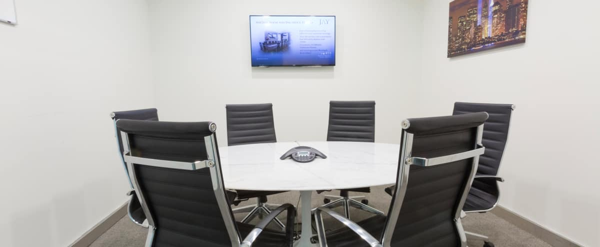 Perfect, Modern Midtown Meeting Room for 6 - Meeting Room E - HS in New York Hero Image in Midtown, New York, NY