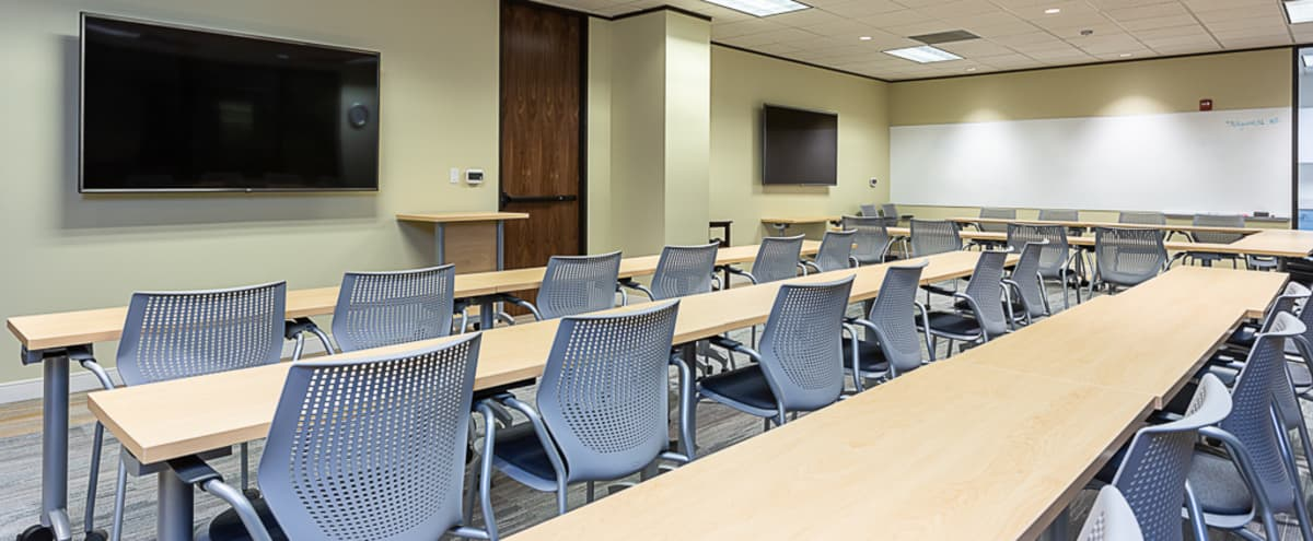 Modern training/conference room in Northwest Austin in Austin Hero Image in Stillhouse Springs, Austin, TX