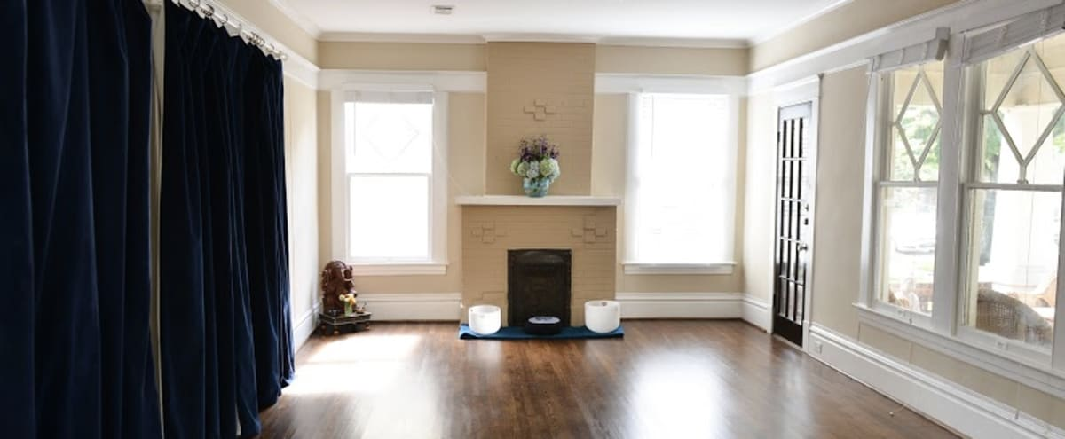 Sundrenched Yoga Studio in Beautiful 1930s Bungalow in Houston Hero Image in Montrose, Houston, TX