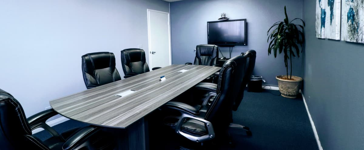 Private Videoconferencing Meeting Room for 6 in Riverside Hero Image in Presidential Park, Riverside, CA