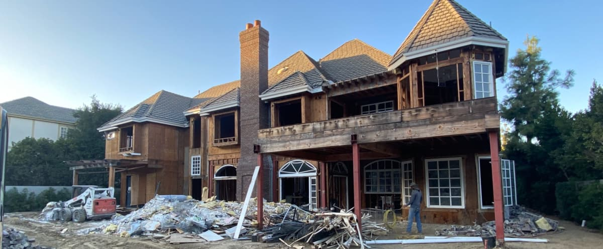 Gutted Mansion Under Construction in Woodland Hills Hero Image in Woodland Hills, Woodland Hills, CA