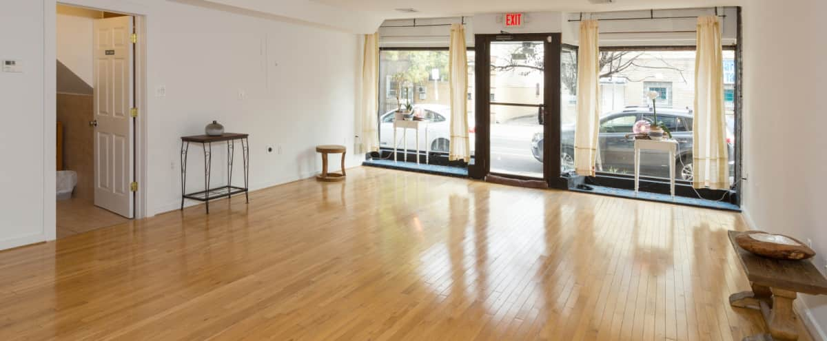 Downtown Spacious Storefront Studio with Courtyard in Jersey City Hero Image in Historic Downtown, Jersey City, NJ