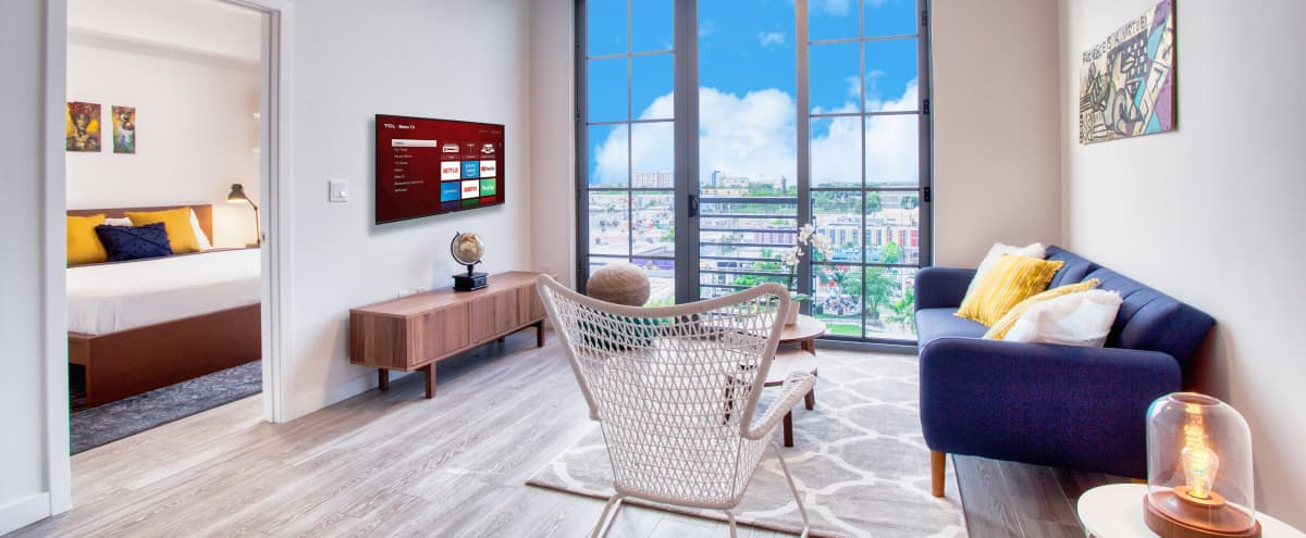 Artsy Luxury Apartment with View in Miami Hero Image in Wynwood Art District, Miami, FL