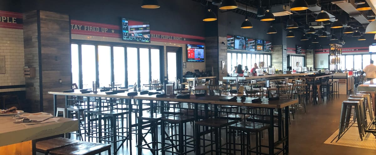Iconic Open Floor Plan Pizza Bar located right at the Arena in Detroit Hero Image in Midtown, Detroit, MI