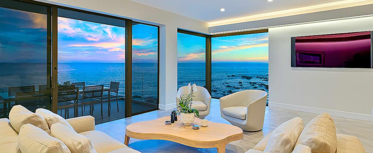 Oceanfront Modern Beach Villa in Malibu Hero Image in Eastern Malibu, Malibu, CA