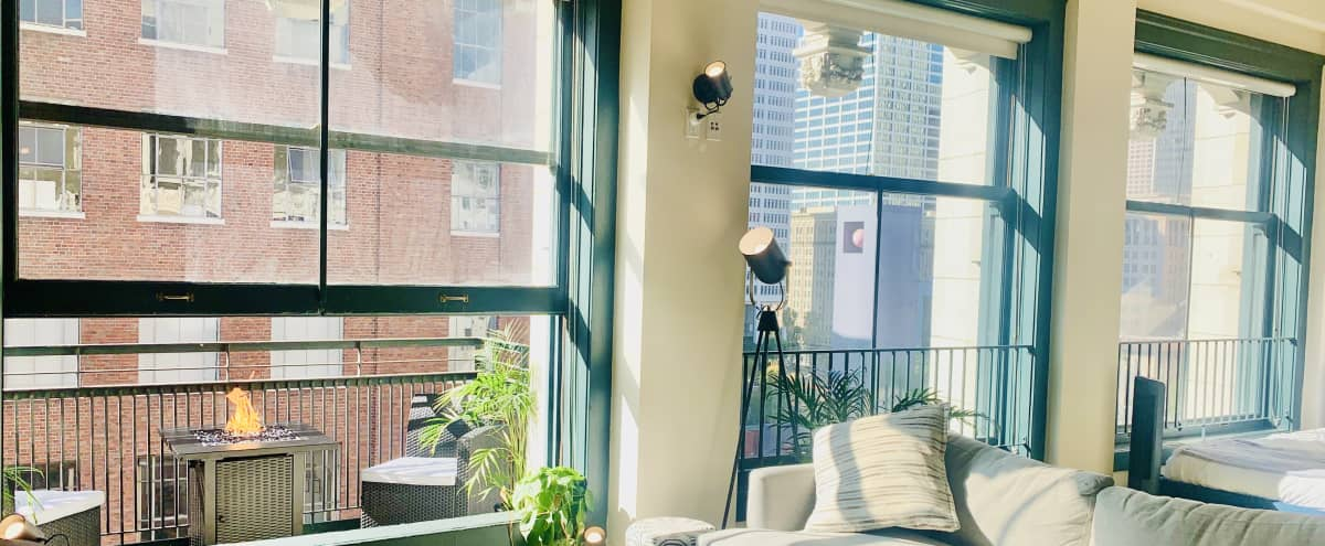 Sun-Drenched Downtown NY Style Loft w/ Skyline Views & Balcony in Los Angeles Hero Image in Central LA, Los Angeles, CA