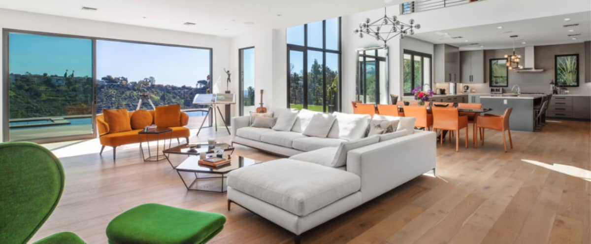 Stunning Bel Air Estate with Breathtaking Canyon and City Views in Los Angeles Hero Image in Bel Air, Los Angeles, CA