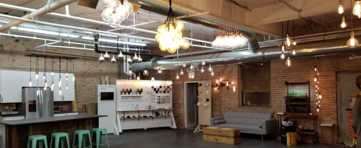 Unique Industrial Lighting Showroom in Chicago Hero Image in West Town, Chicago, IL