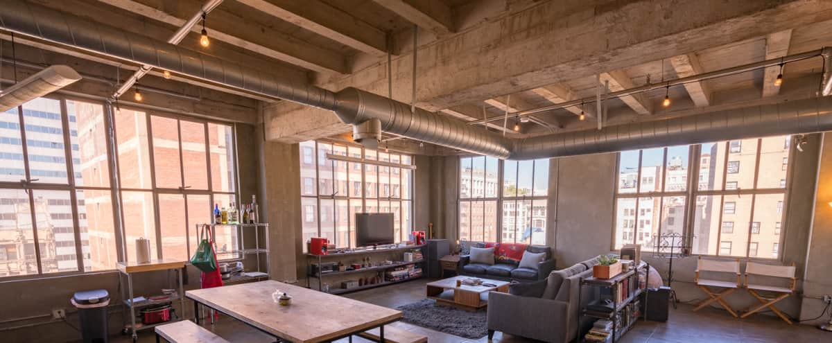 New York Style Dtla Loft Huge Windows Skyline Views Los