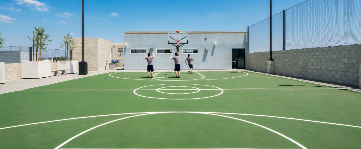 Rooftop Basketball Court In Anaheim Anaheim Ca