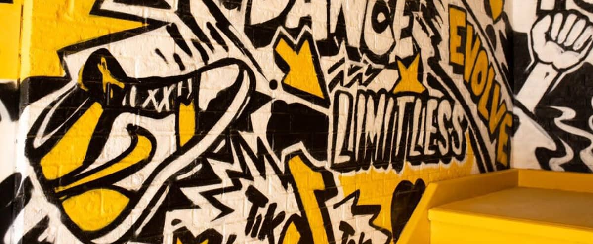 Naturally Lit Black & Yellow Graffiti Room in Brampton Hero Image in undefined, Brampton, ON
