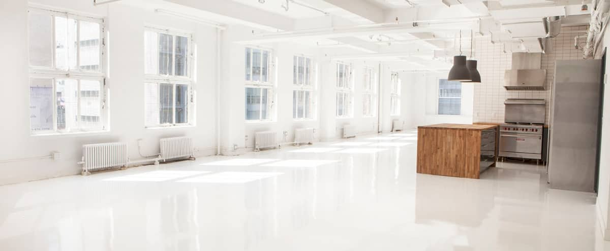 Midtown Modern White  Event Space in New York Hero Image in Garment District, New York, NY