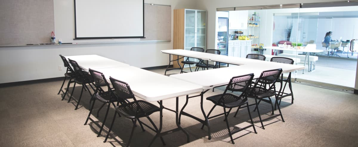 Modern Conference and Workshop Space with Attached Kitchen in Dallas Hero Image in Lake Highlands, Dallas, TX
