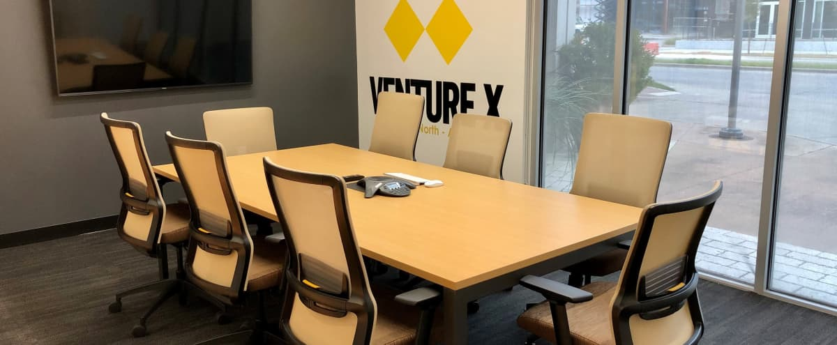 Medium 10 Person Hi-Tech Meeting/Conference Room Across from Galleria in Dallas Hero Image in Far North Dallas, Dallas, TX