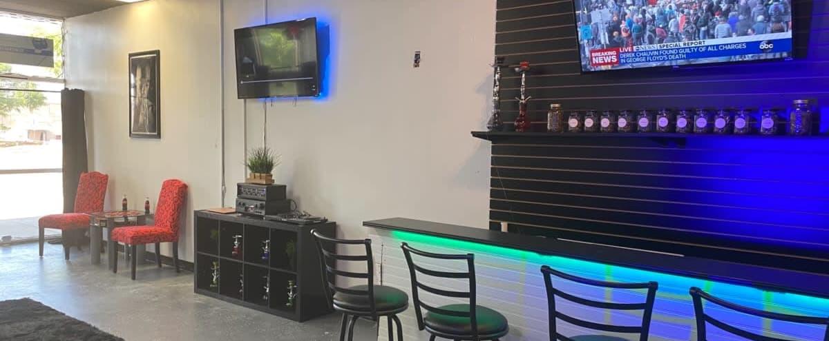 Trendy Event Space with Audio Set Up in Arlington Hero Image in Southwest Arlington, Arlington, TX