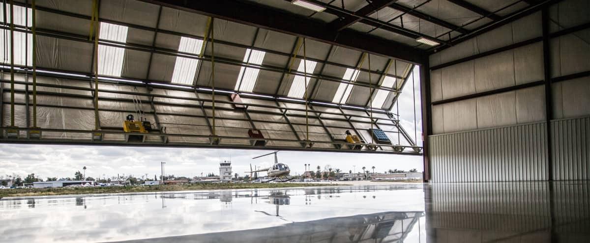 Modern/ Industrial Airport Hangar with Runway Views in Fullerton Hero Image in undefined, Fullerton, CA