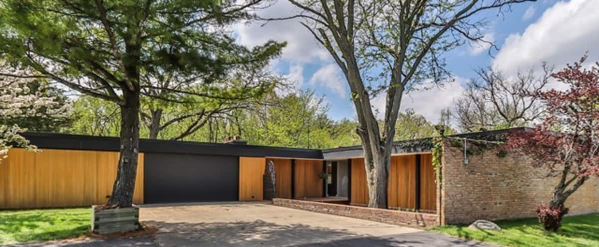 Mid-Century Home on 6 Acres of Wooded Land in Dundee Hero Image in undefined, Dundee, IL