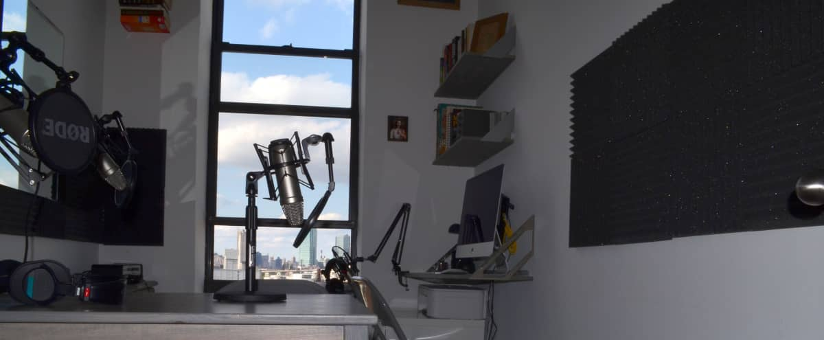 Brooklyn Podcast Studio with city skyline views in brooklyn Hero Image in Greenpoint, brooklyn, NY